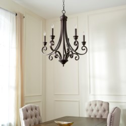 Bryant 5 Light Oiled Bronze  Traditional Chandelier