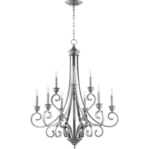 Bryant 9 Light Classic Nickel  Traditional Chandelier