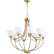 Enclave 8 Light Aged Brass Transitional Chandelier