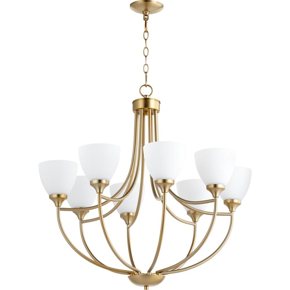 Enclave 8 Light Aged Brass Transitional Chandelier