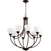 Enclave 8 Light Oiled Bronze  Transitional Chandelier