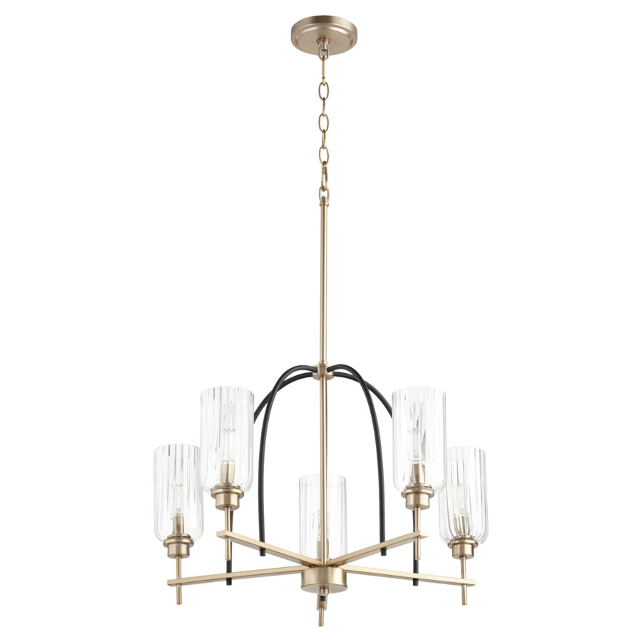 Espy 5 Light Black Soft Contemporary Chandelier