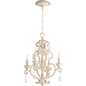 San Miguel 4 Light  Persian White  Traditional Chandelier