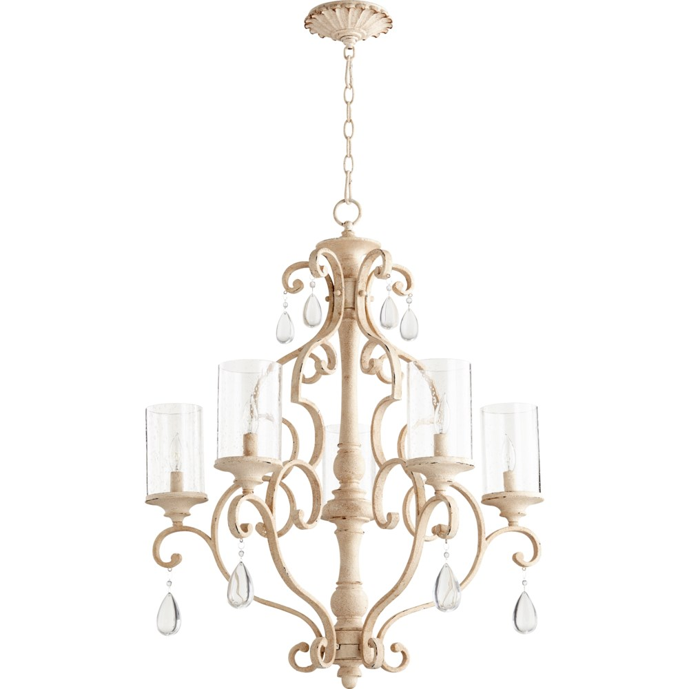 San Miguel 5 Light Persian White  Traditional Chandelier
