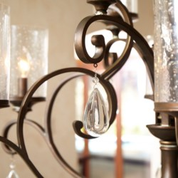 San Miguel 9 Light Vintage Copper  Traditional Chandelier
