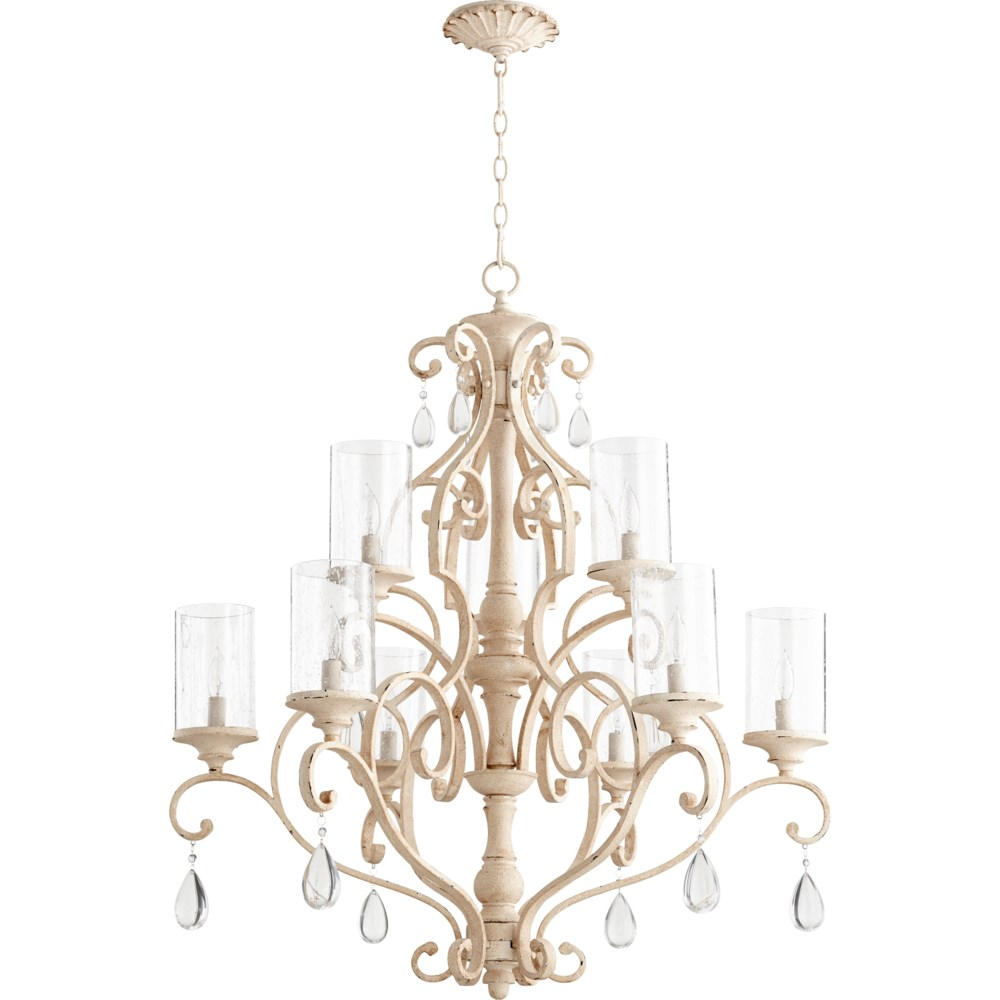 San Miguel 9 Light Persian White  Traditional Chandelier