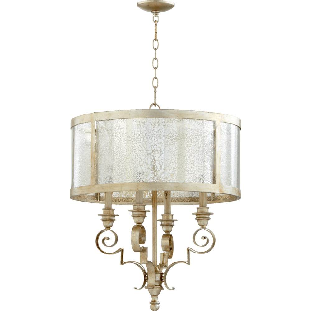 Champlain 4 Light  Aged Silver Leaf Traditional Chandelier