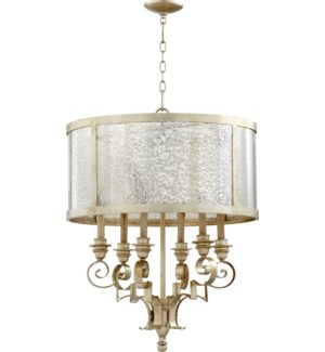 Champlain 6 Light Aged Silver Leaf Traditional Chandelier