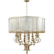 Champlain 8 Light Aged Silver Leaf Traditional Chandelier