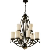 Alameda 9 Light Oiled Bronze  Traditional Chandelier