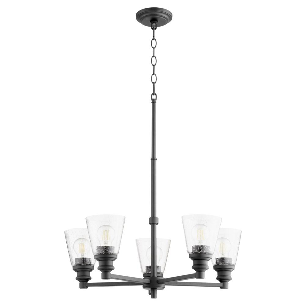 Dunbar 5 Light Black Soft Contemporary Chandelier