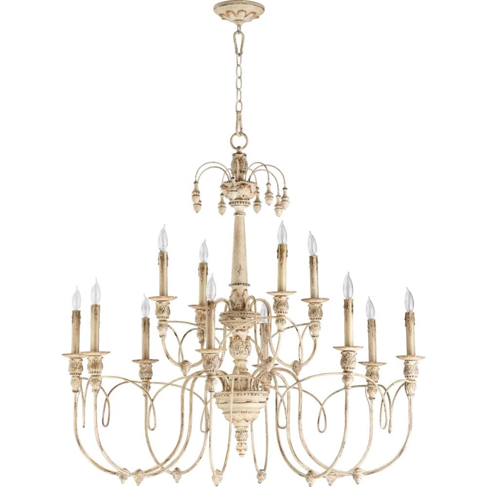 Salento 12 Light  Persian White Traditional Chandelier