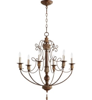 Salento 6 Light Vintage Copper Traditional Chandelier