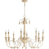 Salento 8 Light Persian White Traditional Chandelier