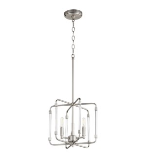 Optic Satin Nickel Modern and Contemporary Pendant