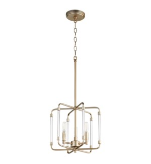 Optic Aged Brass Modern and Contemporary Pendant