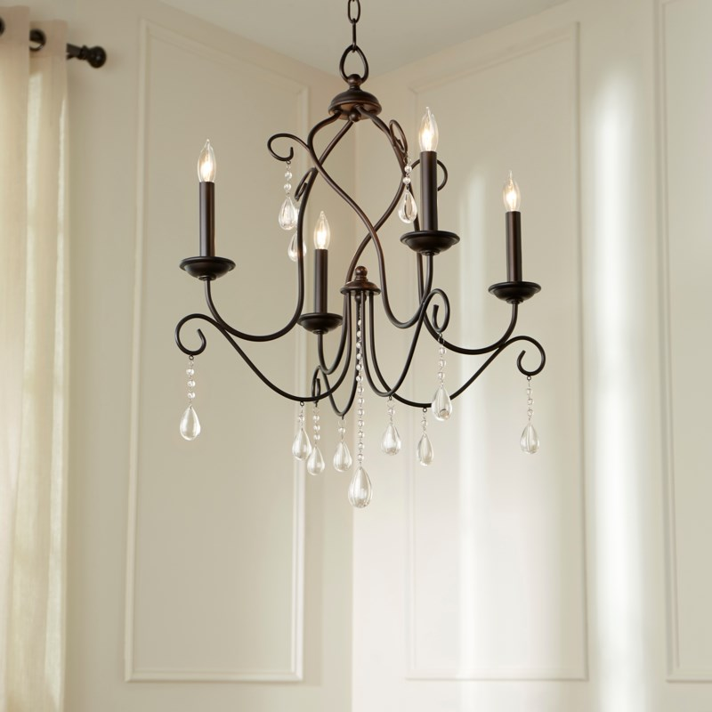 Cilia 4 Light  Oiled Bronze  Transitional Chandelier