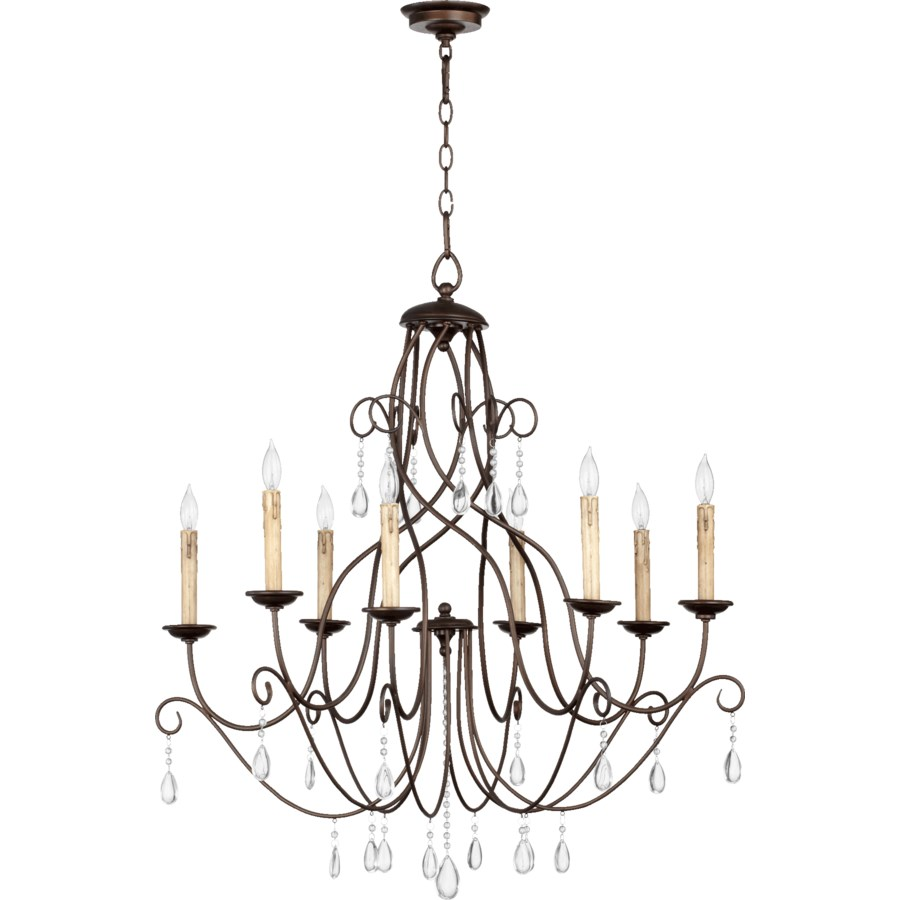 Cilia 8 Light Oiled Bronze  Transitional Chandelier