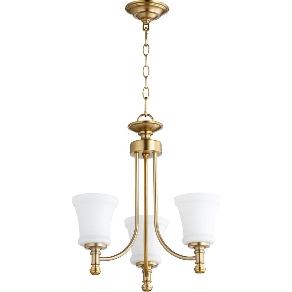 Rossington 3 Light  Aged Brass Transitional Chandelier