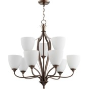Jardin 9 Light Oiled Bronze  Traditional Chandelier