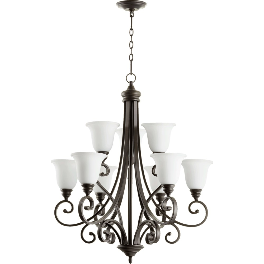Bryant 9 Light Oiled Bronze  Traditional Chandelier