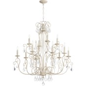 Ariel 12 Light  Persian White  Transitional Chandelier