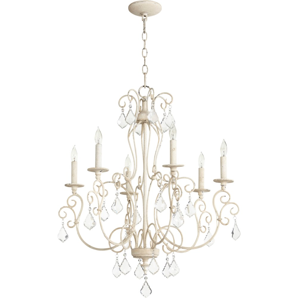 Ariel 6 Light Persian White  Traditional Chandelier