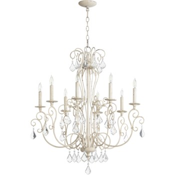 Ariel 8 Light Persian White  Traditional Chandelier