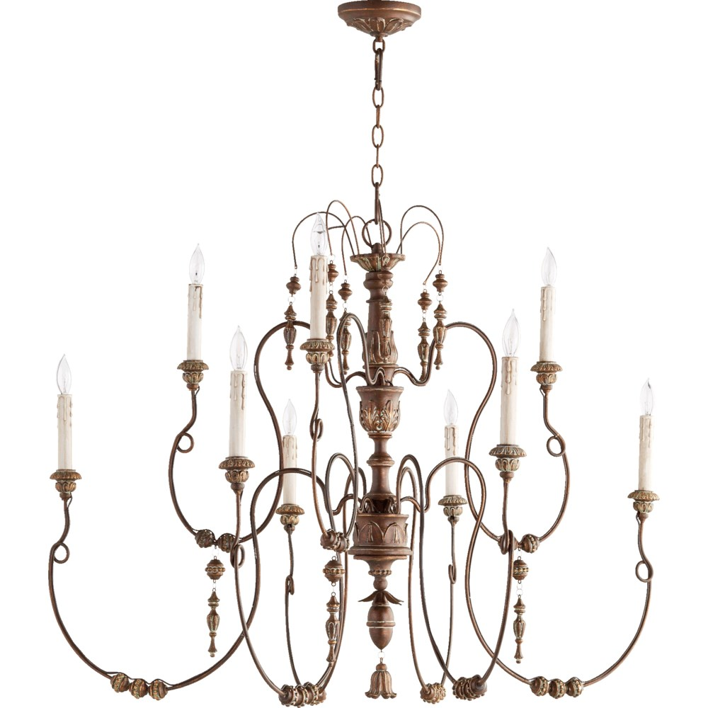 Salento 9 Light Vintage Copper  Traditional Chandelier