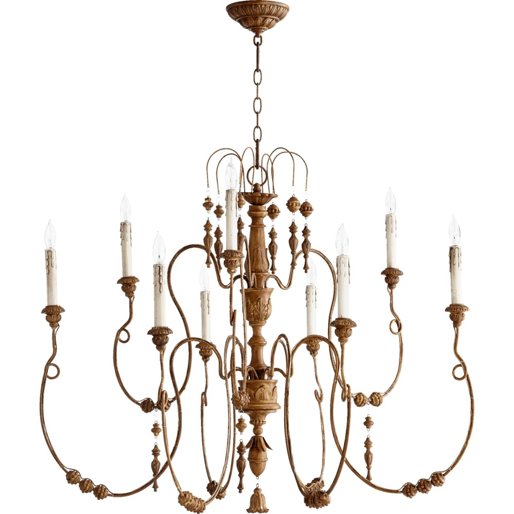 Salento 9 Light French Umber  Traditional Chandelier