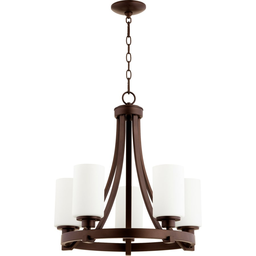 Lancaster 5 Light Oiled Bronze  Transitional Chandelier