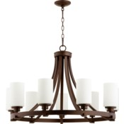 Lancaster 9 Light Oiled Bronze  Transitional Chandelier