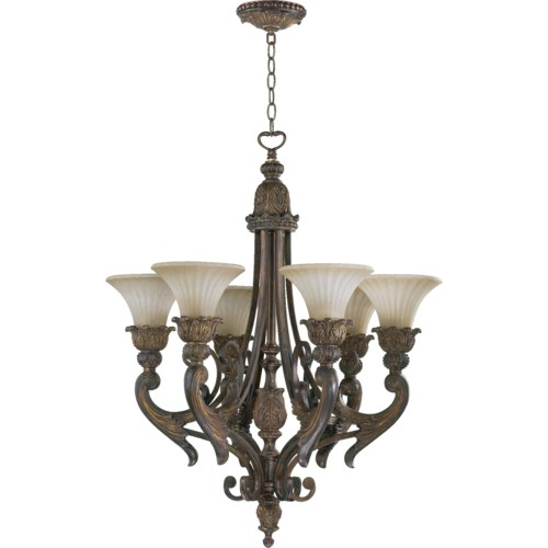 Madeleine 6 Light Corsican Gold  Traditional Chandelier