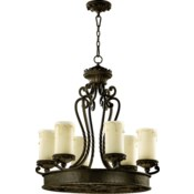 Alameda 6 Light Oiled Bronze  Traditional Chandelier