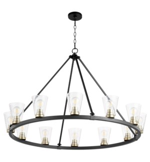 Paxton 12 Light  Black Transitional Chandelier