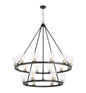 Paxton 18 Light  Black Transitional Chandelier