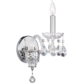 Bohemian Katerina 1 Light Traditional Chrome Imperial Crystal Wall Sconce