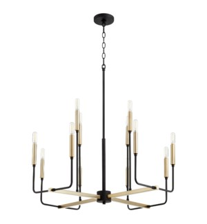 Lacy 12 Light  Black Soft Contemporary Chandelier