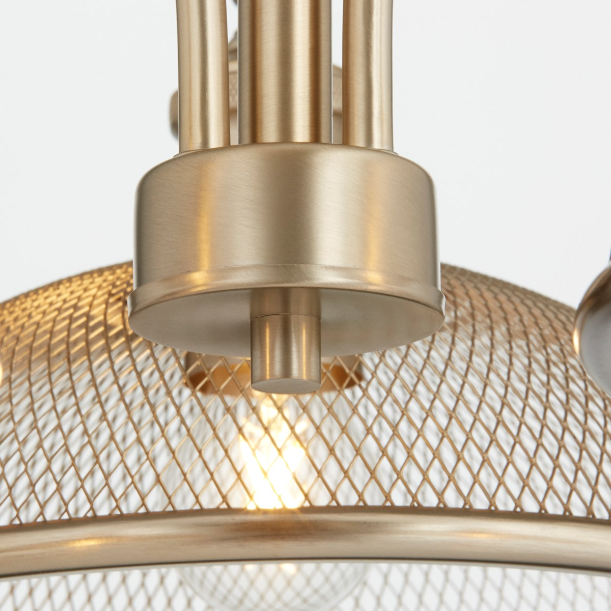 Omni 3 Light Industrial Aged Brass Chandelier