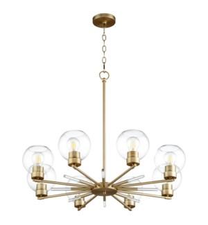 Volan 8-Light Aged Brass Chandelier