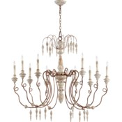 La Maison 10 Light  Manchester Grey Traditional Chandelier