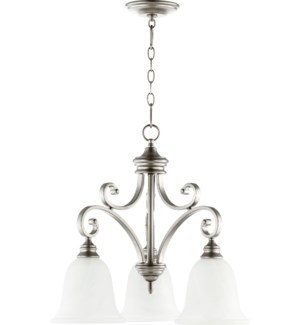 Bryant 3 Light Traditional Classic Nickel Chandelier
