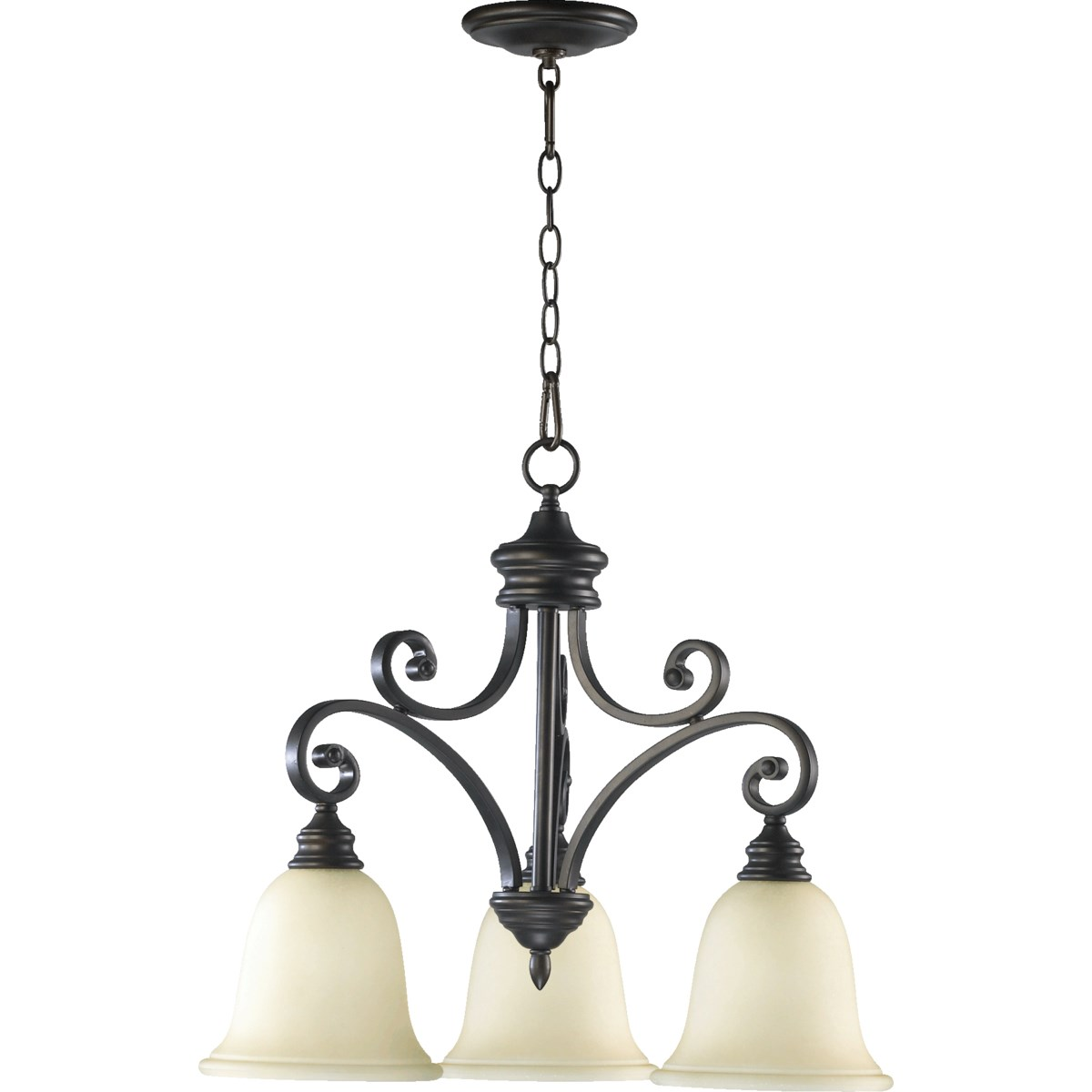 Bryant 3 Light Traditional Oiled Bronze Chandelier