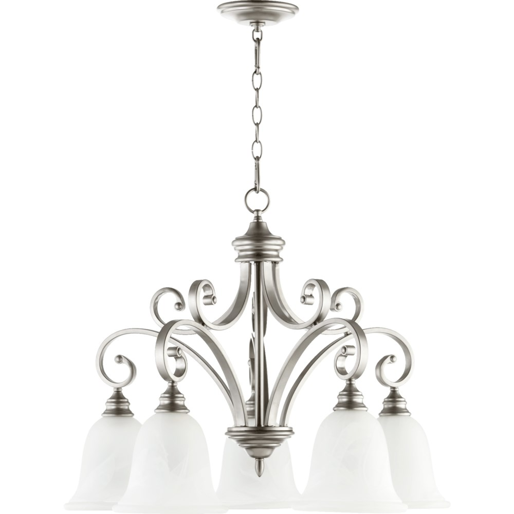 Bryant 5 Light Traditional Classic Nickel Chandelier