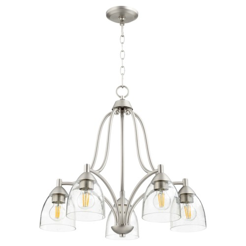 Barkley 5 Light Transitional Satin Nickel Chandelier