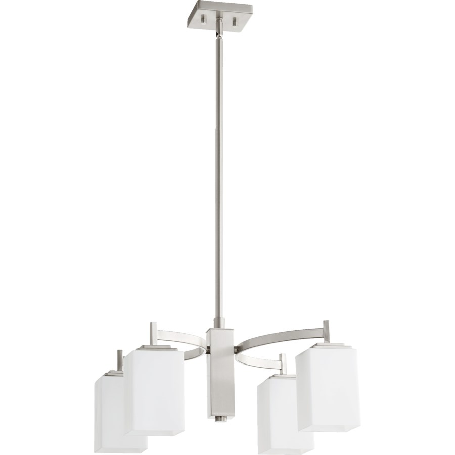 Delta 4 Light Modern and Contemporary Satin Nickel Chandelier