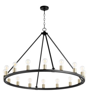 Paxton 16 Light  Black Transitional Chandelier