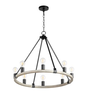 Paxton 8 Light Black Transitional Chandelier