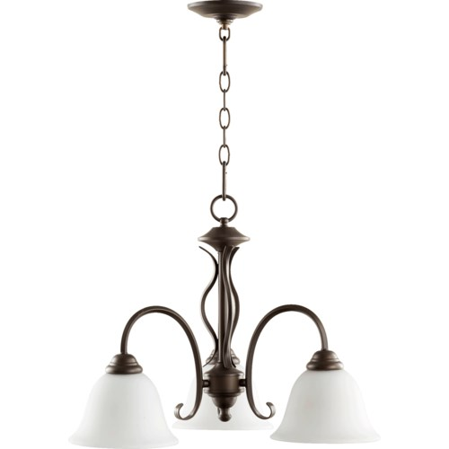 Spencer 3 Light Transitional Oiled Bronze  Chandelier