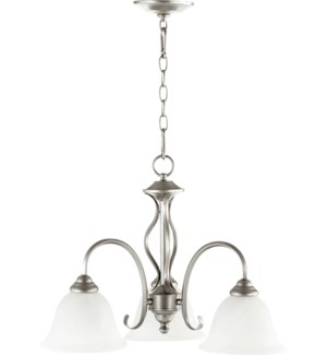 Spencer 3 Light Transitional Classic Nickel Chandelier